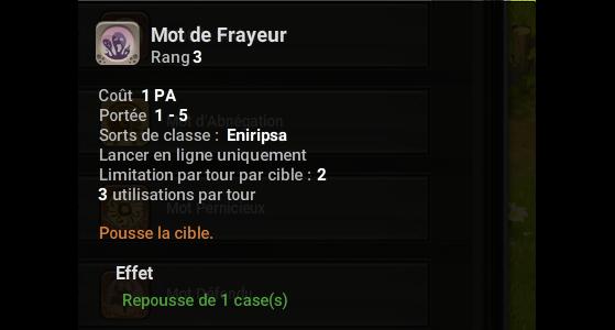Mot de Frayeur - Dofus