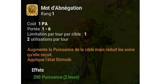 Mot d'Abnégation - Dofus