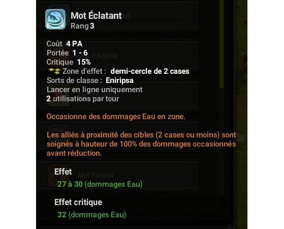 Mot Eclatant - Dofus