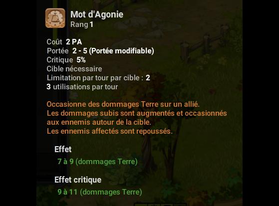 Mot d'Agonie - Dofus
