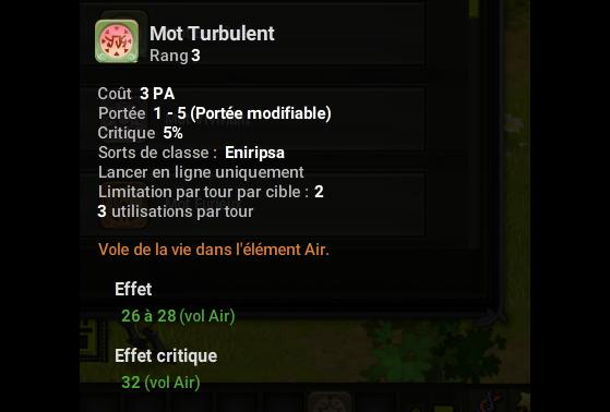 Mot Turbulent - Dofus