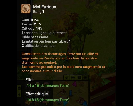 Mot Furieux - Dofus