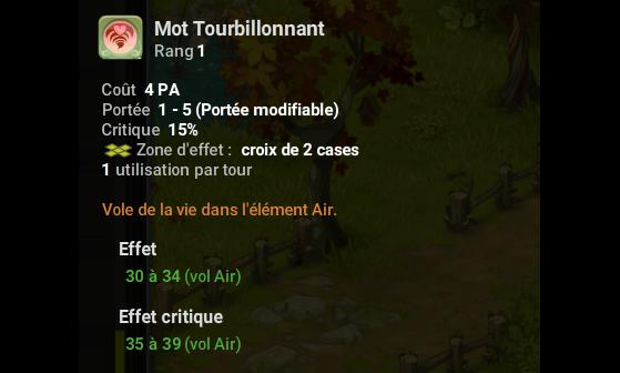 Mot Tourbillonnant - Dofus