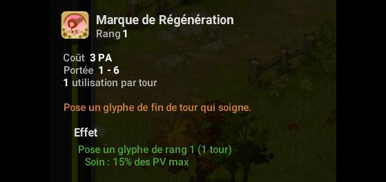 Marque de Régénaration - Dofus
