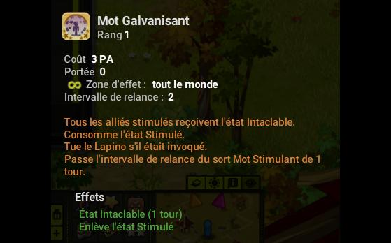 Mot Galvanisant - Dofus