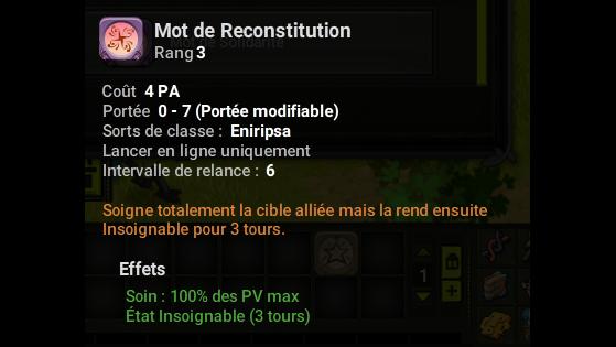 Mot de Reconstitution - Dofus
