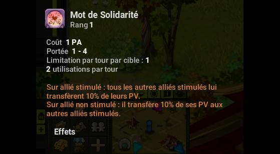 Mot de Solidarité - Dofus