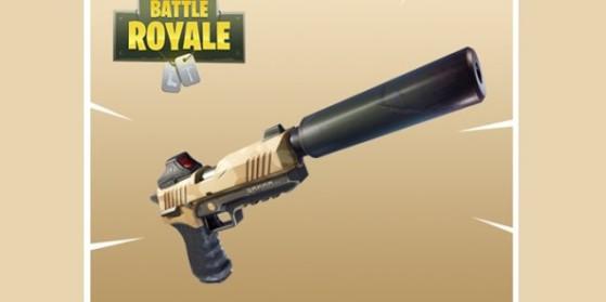 Nouvelle arme : pistolet-silencieux