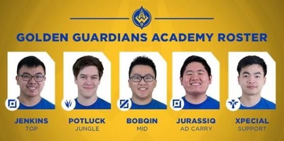La line-up Golden Guardians Academy