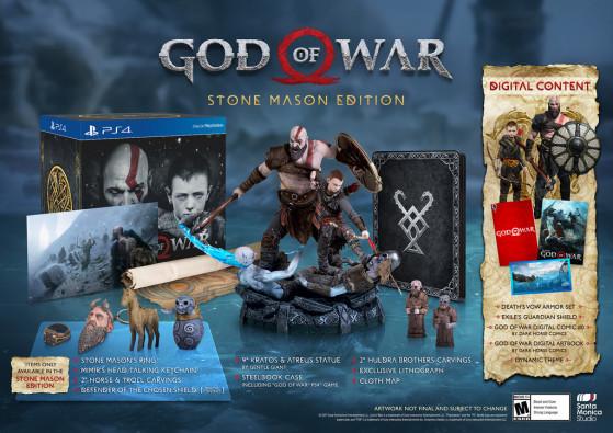 Stone mason Edition : 149,99$ - God of War