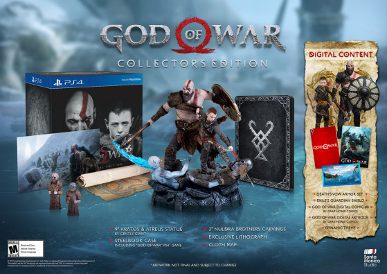Edition collector : 129,99$ - God of War