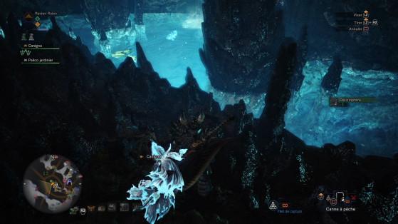 Bassin d'acide et poisson discret - Monster Hunter World