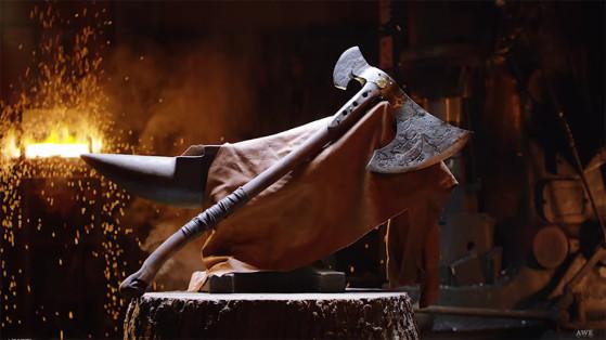 God of War : La hache Leviathan forgée par Man at Arms