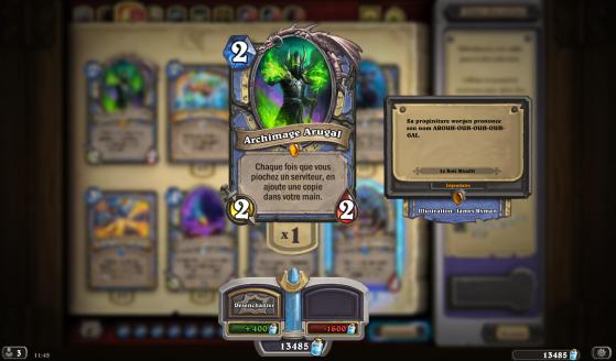 Dans le lore de World of Warcraft, Arugal a d'abord renié, puis finalement adopté les Worgens comme ses enfants. - Hearthstone