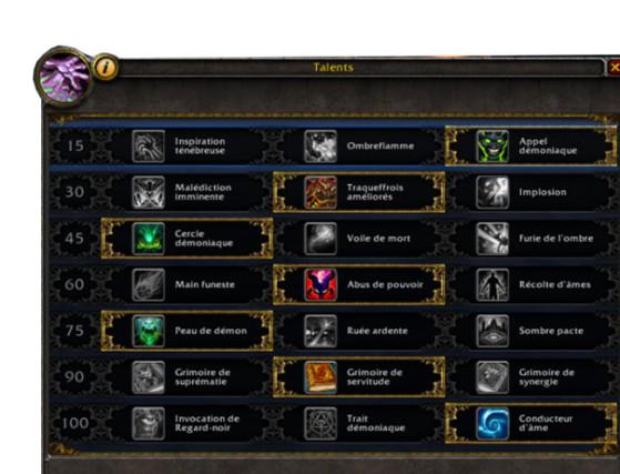 Talents Légion - World of Warcraft