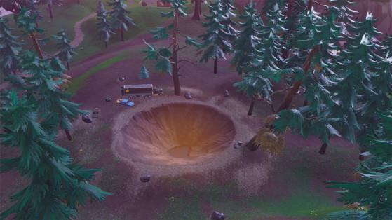 Dans la forêt derrière Pleasant Park - Fortnite : Battle royale