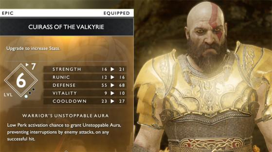 God of War : Set valkyrie, la meilleure armure du jeu