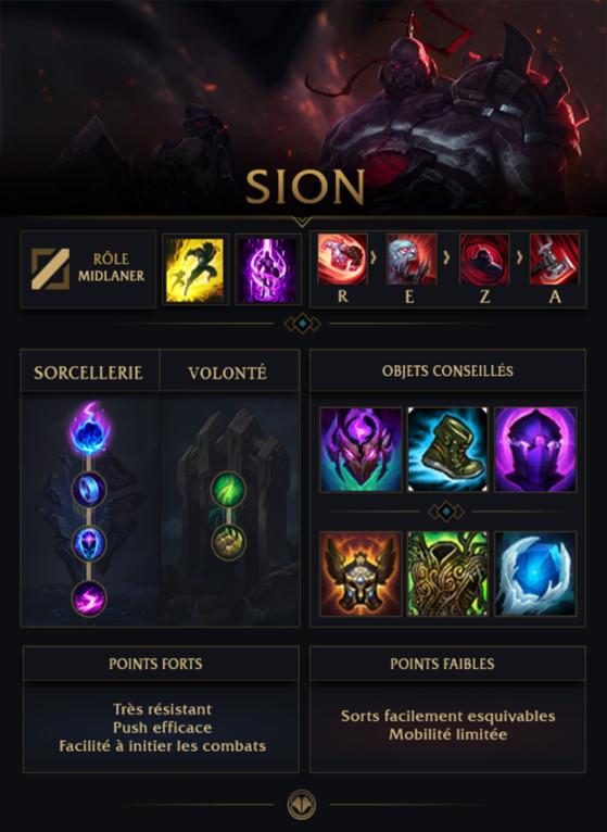 Build pour Sion Mid - League of Legends