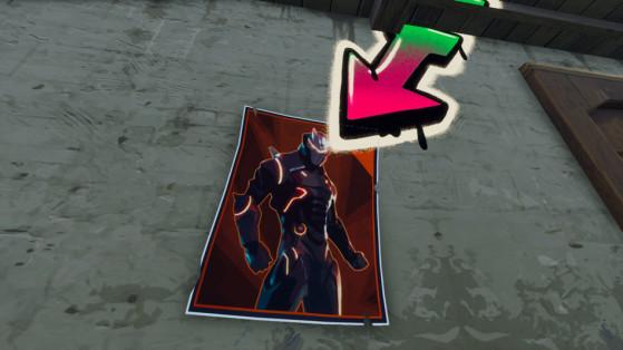 Fortnite : défi, asperger d'aérosol plusieurs posters Carburo ou Oméga
