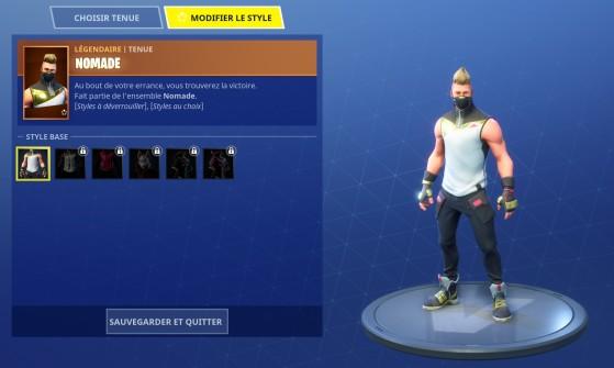 Fortnite Skin Nomade Et Defis Millenium