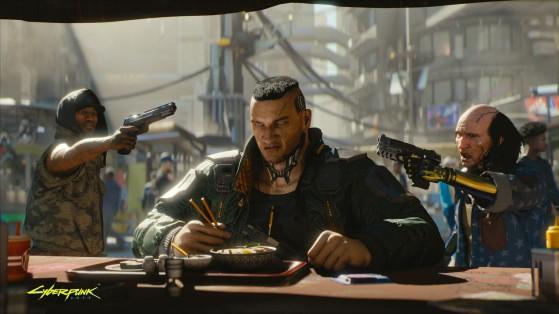 Sérieusement est-ce qu'il a vraiment la tête du gars qu'il faut braquer ? - Cyberpunk 2077