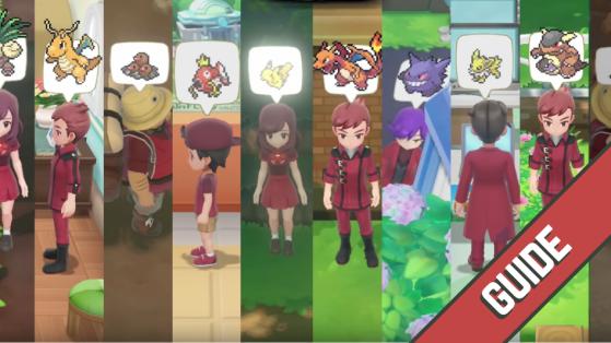 Pokémon Let's GO Pikachu Evoli : Liste des 153 dresseurs experts à battre