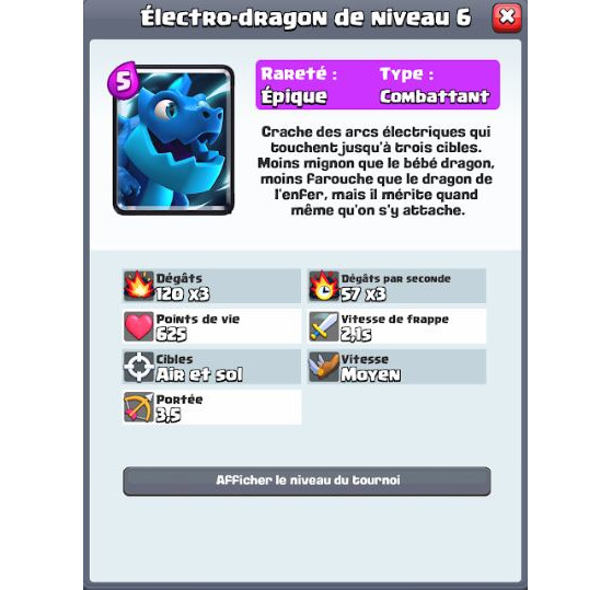 Stats initiales - Clash Royale