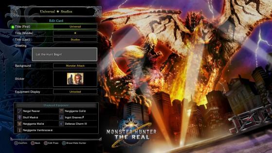 Carte de guilde USJ - Monster Hunter World