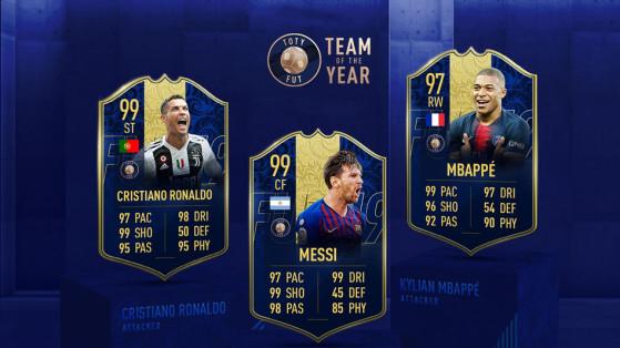 FIFA 19 : TOTY, Ronaldo, Messi et Mbappé - les notes des attaquants