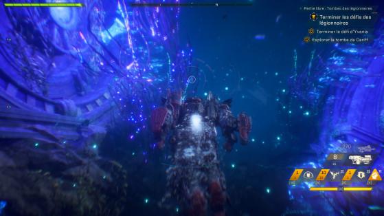 L'exploration sous-marine, c'est joli mais au mieux anecdotique. Il est impossible de s'y battre, et ne sert qu'à s'y perdre et à faire perdre la tête à la caméra. - Anthem