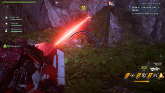 Le laser qui indique une mort imminente. - Anthem