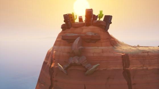 Fortnite : visiter un visage géant dans le désert, la jungle, et la neige