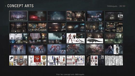 Resident Evil 2 : Débloquer tous les concept arts, défis