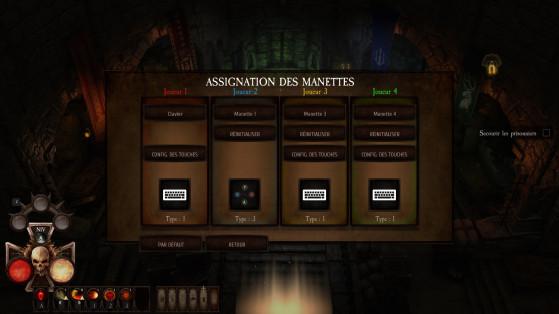 Chaque joueur peu configurer ses touches. - Millenium