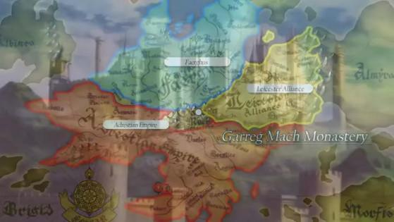 Le continent de Fódlan - Fire Emblem Three Houses