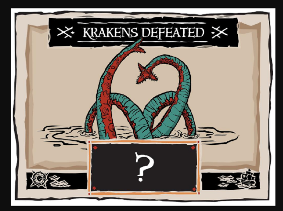 Sea of Thieves : guess for gold, kraken