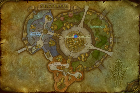 Emplacement de Cupri à Shattrath - World of Warcraft
