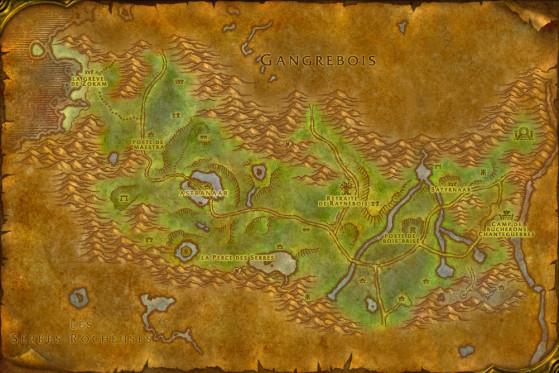 La carte d'Orneval à l'époque, à peu de choses près - WoW : Classic