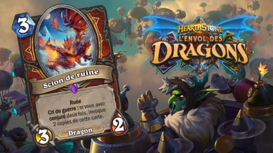 Hearthstone Envol des Dragons : nouveau serviteur épique Guerrier Scion de ruine
