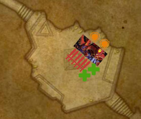 Placement lorsque Tek'ris contrôle la Conscience collective - World of Warcraft