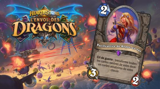 Hearthstone Envol des Dragons : nouveau serviteur épique Neutre Purificatrice de Repos du ver