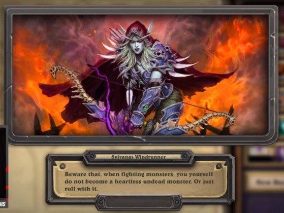 Sylvanas dans la collection - Hearthstone