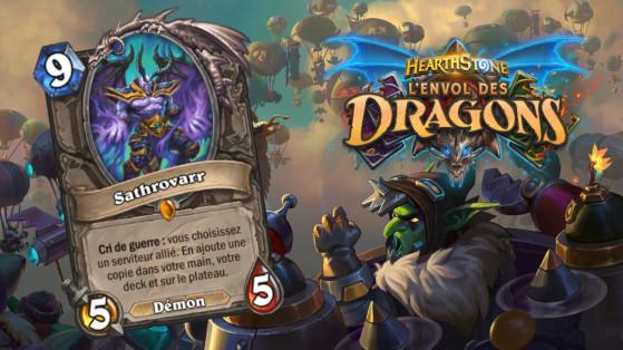 Hearthstone Envol des Dragons : nouveau serviteur légendaire Neutre Sathrovarr