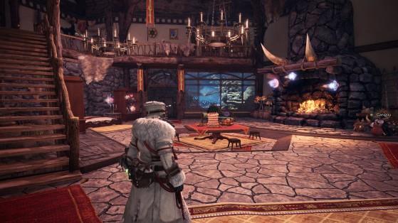 Parfaitement dispensable, le housing permet à Capcom de vendre des DLC payants sans gêner ceux qui veulent jouer. - Monster Hunter World