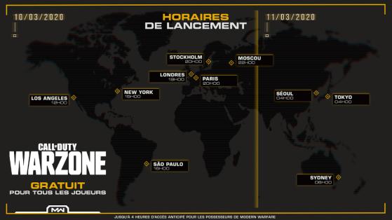 Call of Duty Modern Warfare : Warzone Battle Royale, heure de sortie et poids du téléchargement