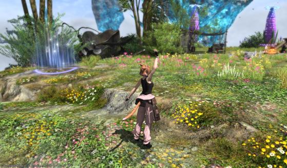 Zone de départ et sortie du Diadème - Final Fantasy XIV