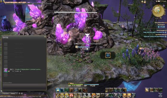 Récolter un gisement caché durant une tempête - Final Fantasy XIV