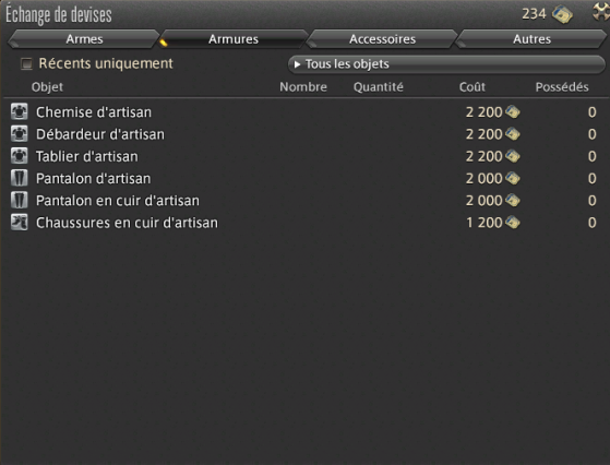 Armures exclusives - Final Fantasy XIV