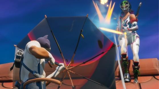 Fortnite : parapluie tout-en-un, nouvelle arme légendaire inspirée de Kingsman
