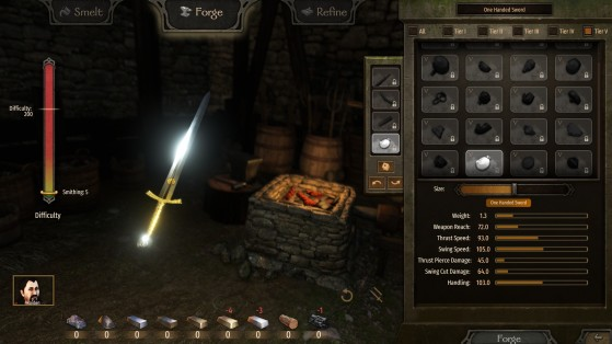Mount & Blade 2 Bannerlord -  Monter la Forge, smithing